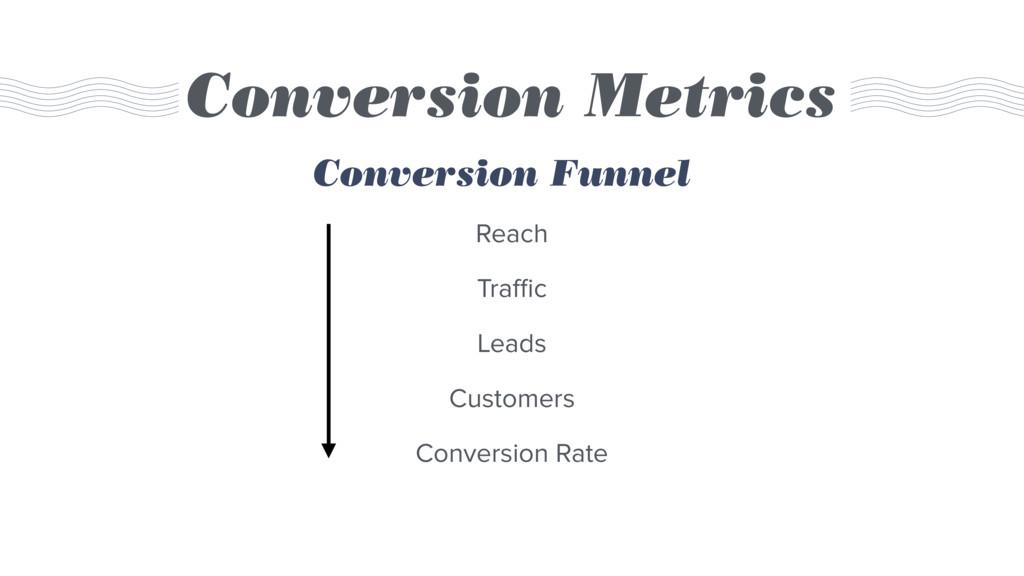 Conversion Metrics Reach Traffic Leads Customers ...