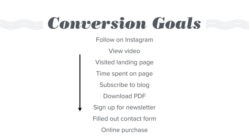 Conversion Goals Follow on Instagram View video...