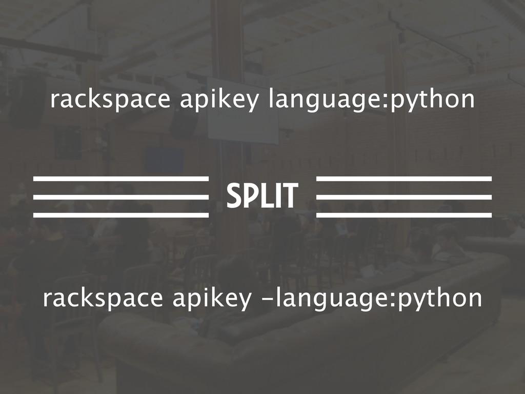 rackspace apikey language:python rackspace apik...