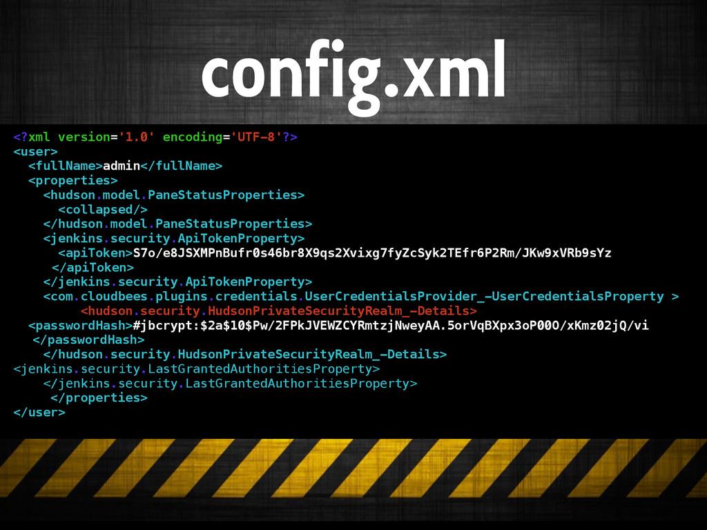 config.xml <?xml version='1.0' encoding='UTF-8'...
