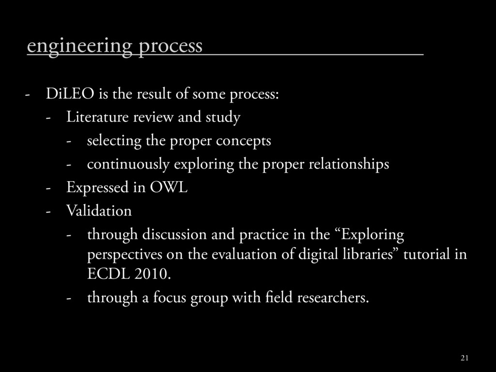 engineering process - DiLEO is the result of so...