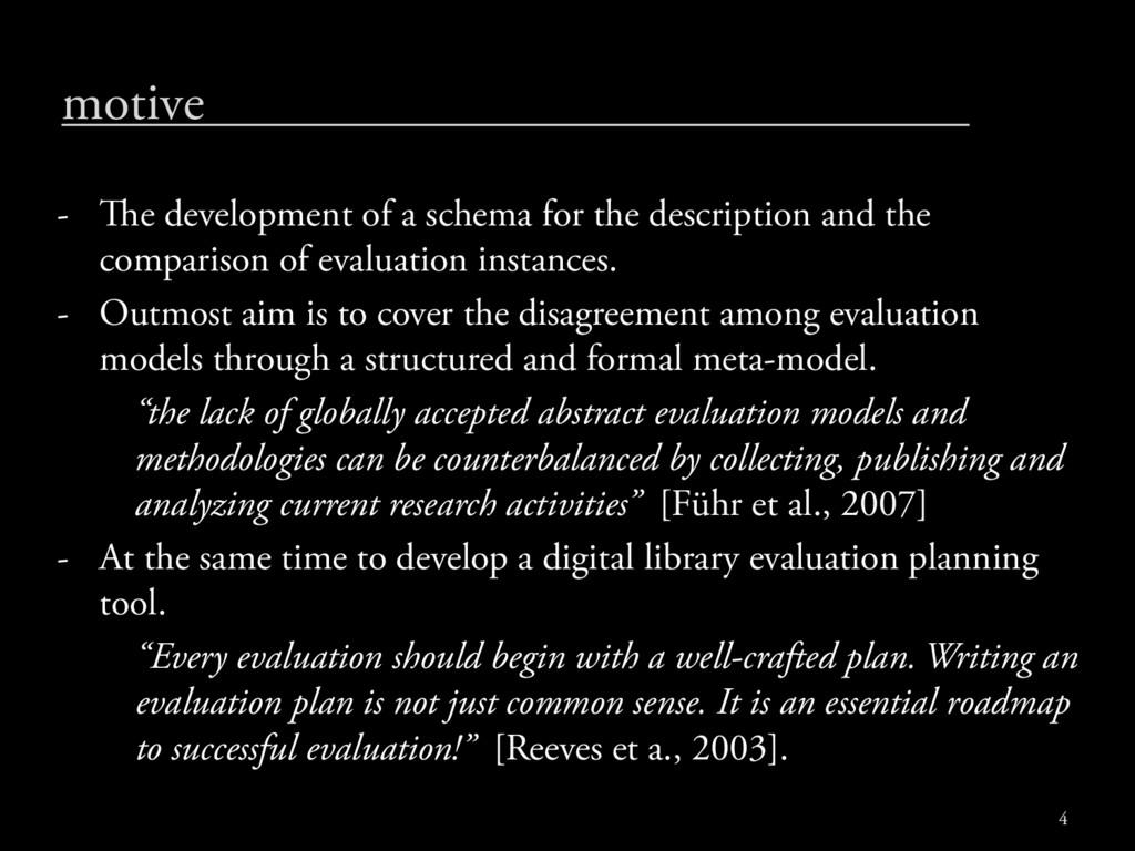 motive - e development of a schema for the des...