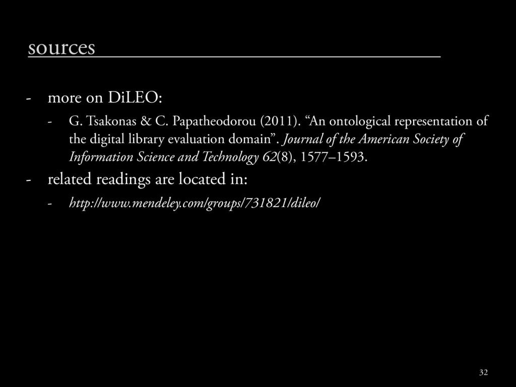 sources - more on DiLEO: - G. Tsakonas & C. Pap...
