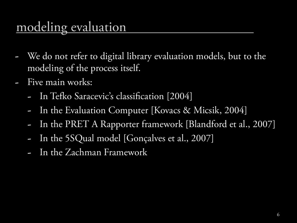 modeling evaluation - We do not refer to digita...