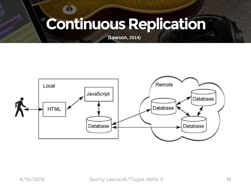 Continuous Replication 18 (Lawson, 2014) 6/10/2...