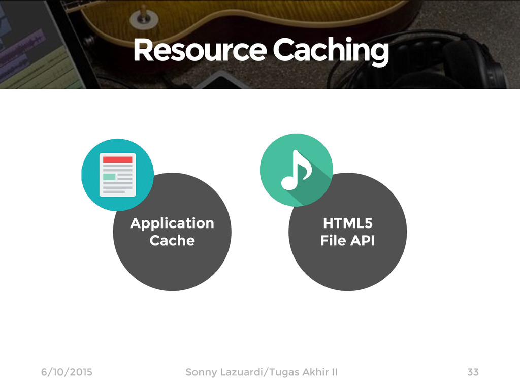 Resource Caching 33 6/10/2015 Application Cache...