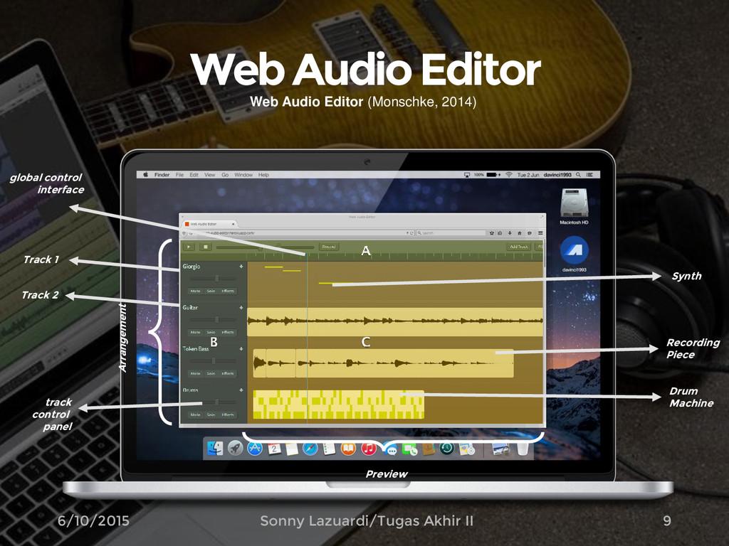 Web Audio Editor 9 Arrangement Track 1 Track 2 ...