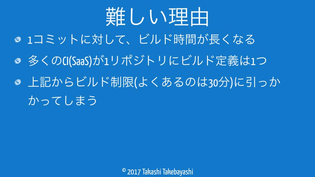© 2017 Takashi Takebayashi 1ίϛοτʹରͯ͠ɺϏϧυ͕ؒ͘ͳΔ...