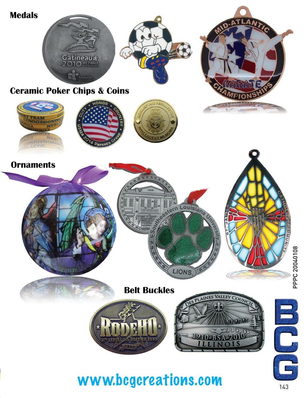 www.bcgcreations.com Medals Ceramic Poker Chips...
