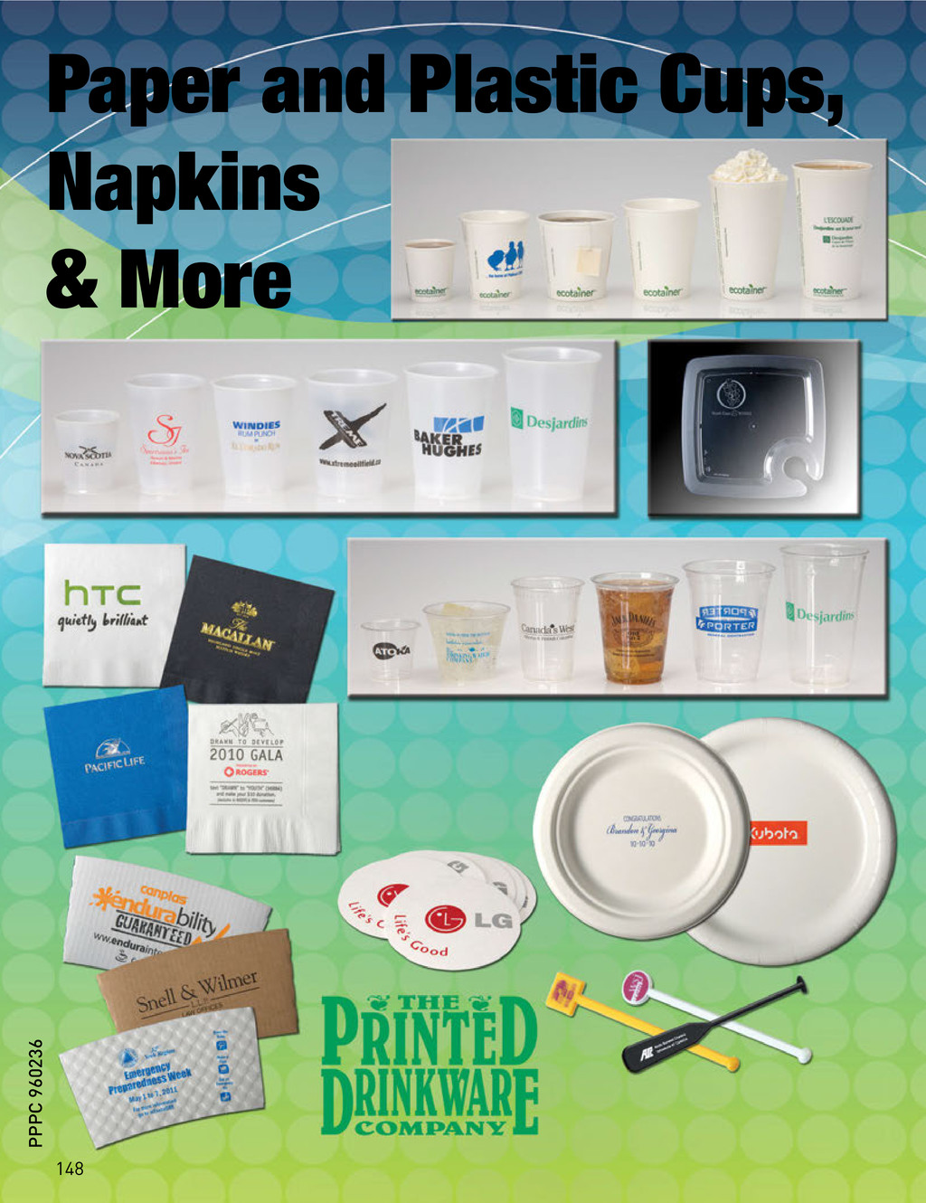 Paper and Plastic Cups, Napkins & More 148 PPPC...
