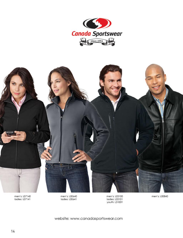 website: www.canadasportswear.com men's: L07140...