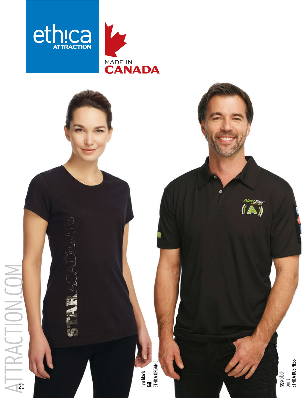 ATTRACTION.COM 399 black print ETHICA BUSINESS ...