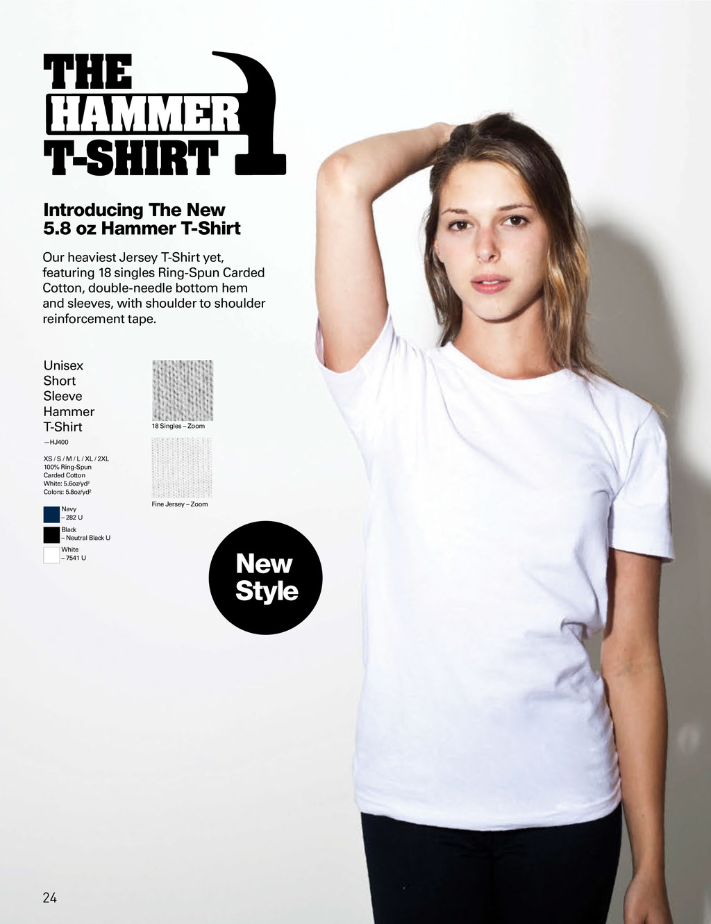 Introducing The New 5.8 oz Hammer T-Shirt Unise...