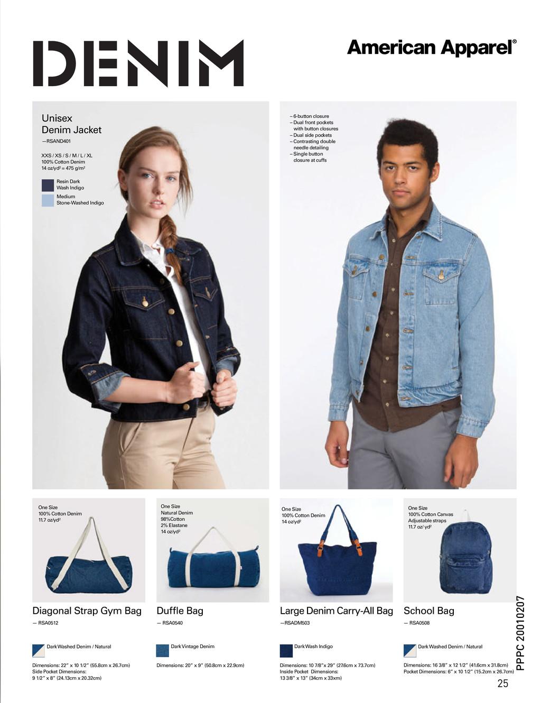 School Bag Large Denim Carry-All Bag Diagonal S...