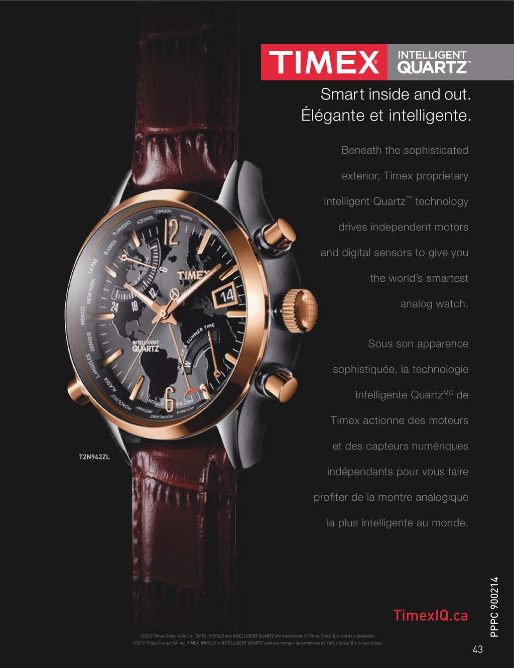 ©2012 Timex Group USA, Inc. TIMEX, INDIGLO et I...