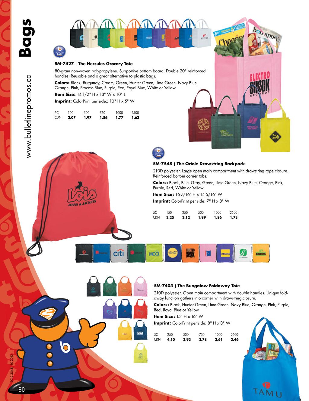 www.bulletlinepromos.ca Bags SM-7548 | The Orio...