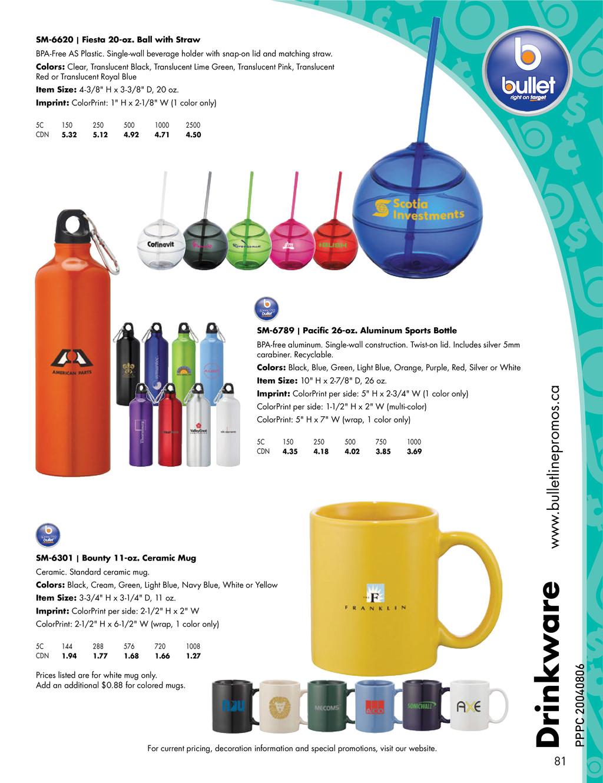 Drinkware www.bulletlinepromos.ca SM-6620 | Fie...