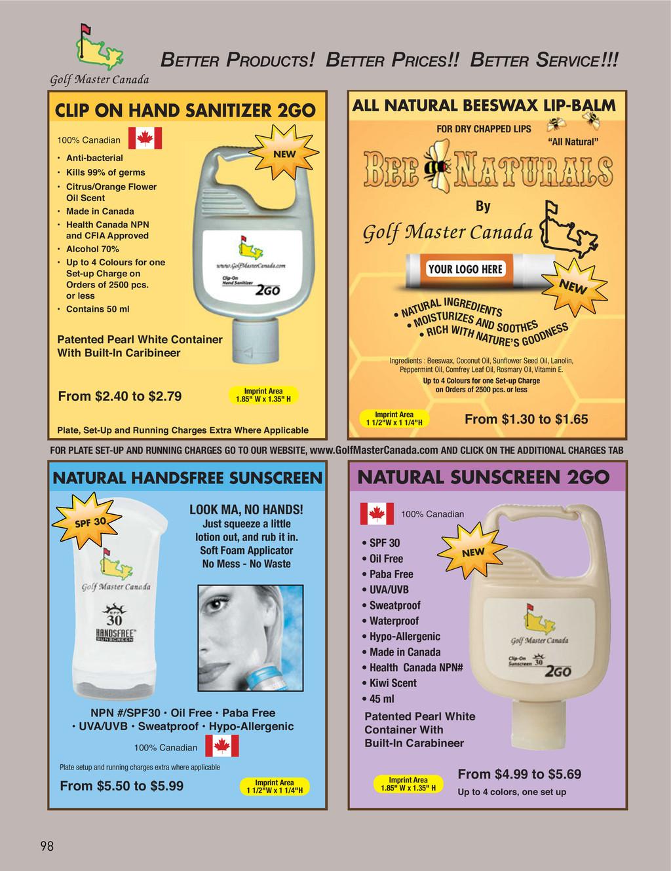 NATURAL HANDSFREE SUNSCREEN 100% Canadian NPN #...