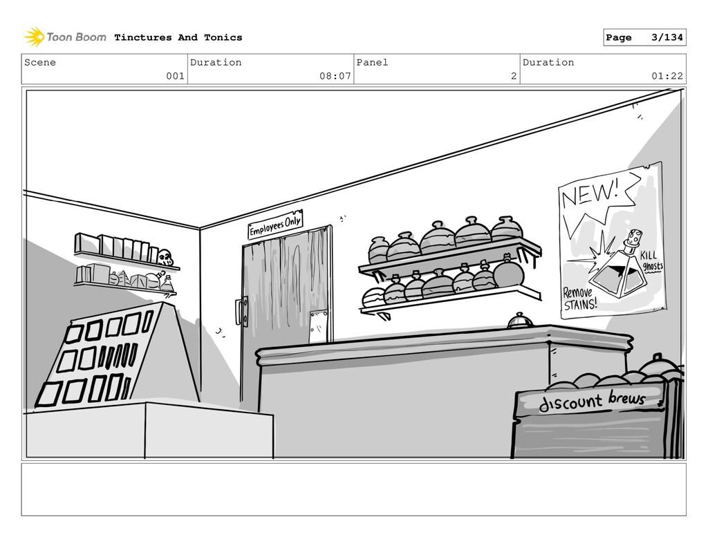 Scene 001 Duration 08:07 Panel 2 Duration 01:22...