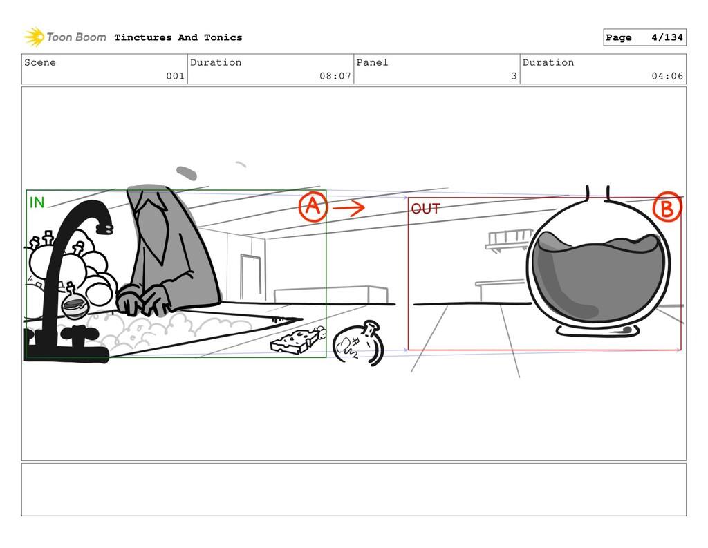 Scene 001 Duration 08:07 Panel 3 Duration 04:06...