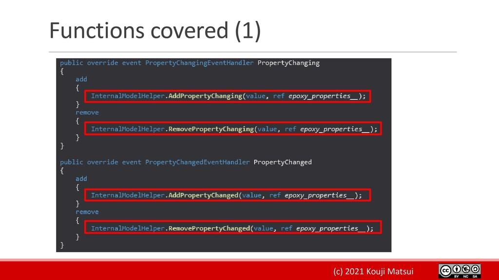 (c) 2021 Kouji Matsui Functions covered (1)
