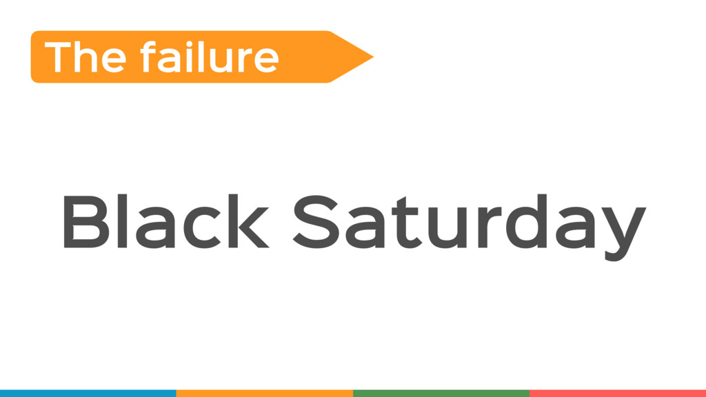 Black Saturday The failure