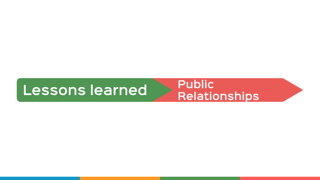 Public  Relationships Lessons learned