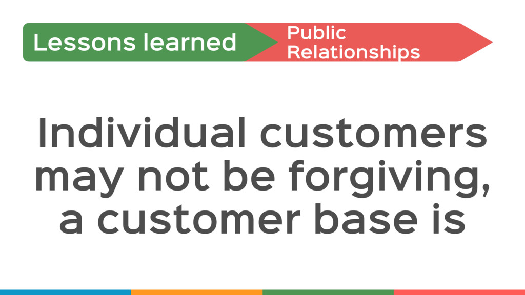 Individual customers may not be forgiving, a cu...