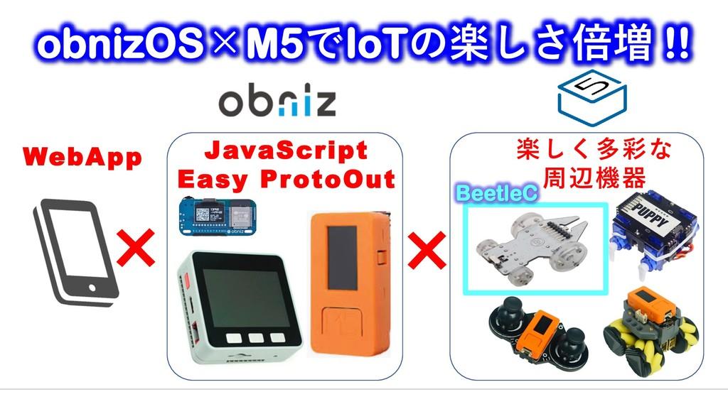 楽しく多彩な 周辺機器 JavaScript Easy ProtoOut × obnizOS×...