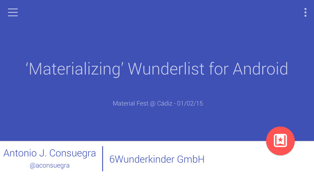 bbbb 'Materializing' Wunderlist for Android Mat...