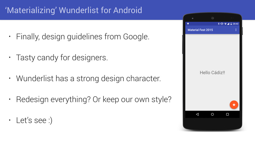 'Materializing' Wunderlist for Android • Finall...
