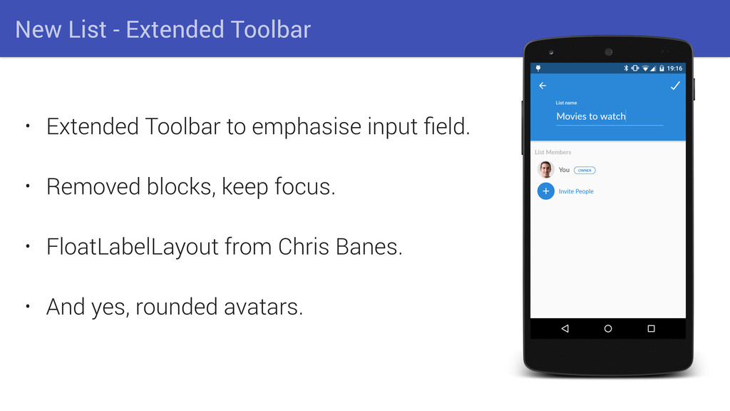 New List - Extended Toolbar • Extended Toolbar ...