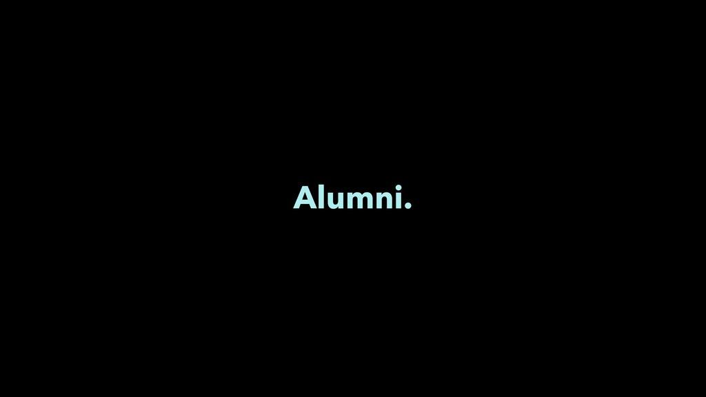 Alumni.