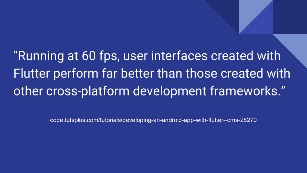 """""""Running at 60 fps, user interfaces created wit..."""