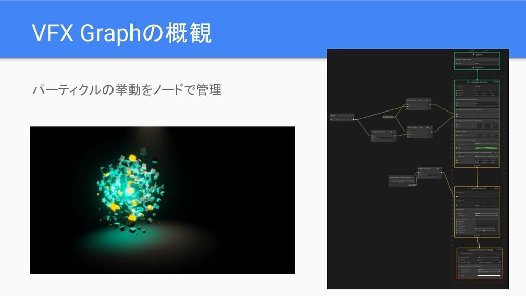 VFX Graphの概観 パーティクルの挙動をノードで管理