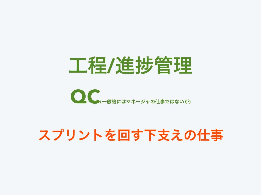 ఔ/ਐḿཧ QC (ҰൠతʹϚωʔδϟͷͰͳ͍͕) εϓϦϯτΛճ͢Լࢧ͑ͷ