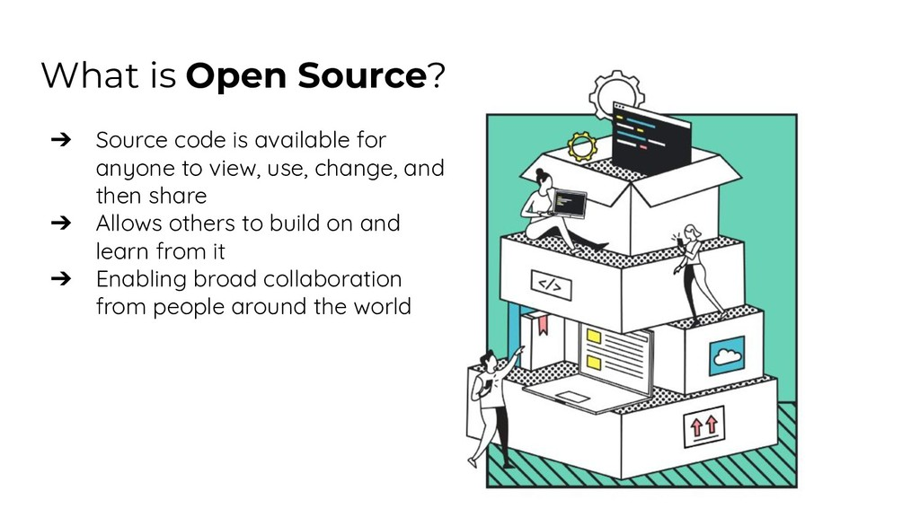 What is Open Source? ➔ Source code is available...