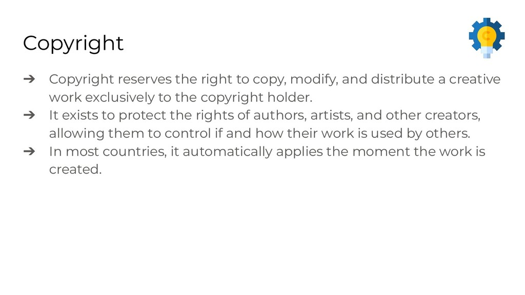 Copyright ➔ Copyright reserves the right to cop...
