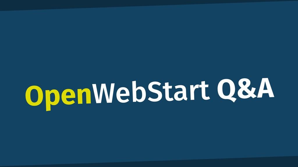 OpenWebStart Q&A