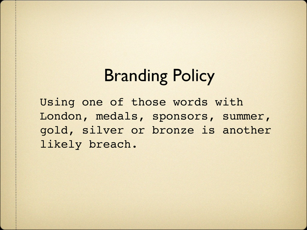 Branding Policy Using one of those words with L...