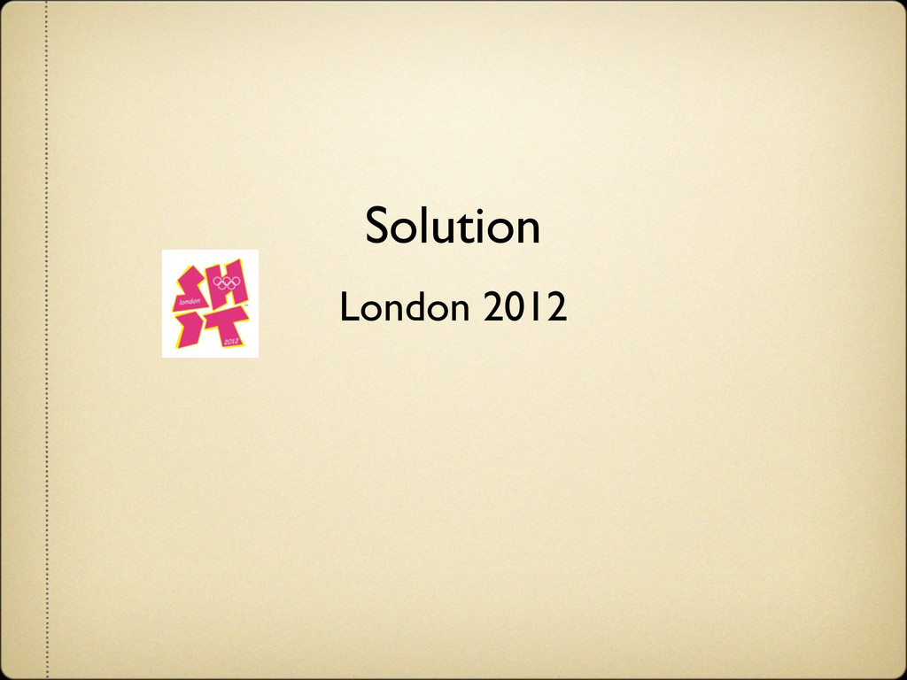 Solution London 2012 ɹ