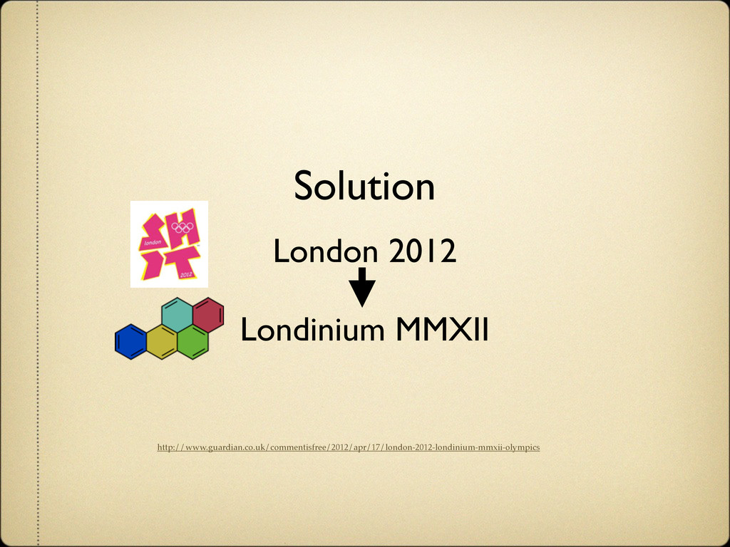 Solution London 2012 Londinium MMXII http://www...