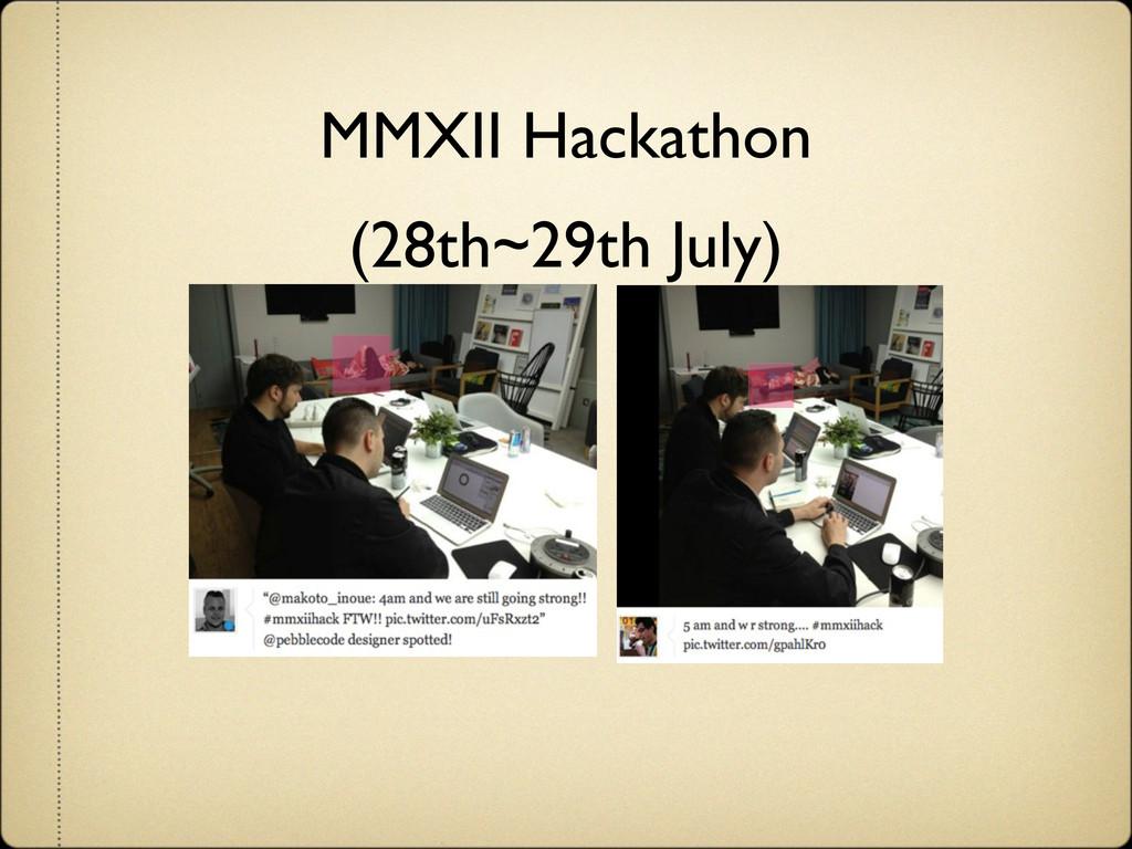 MMXII Hackathon (28th~29th July)