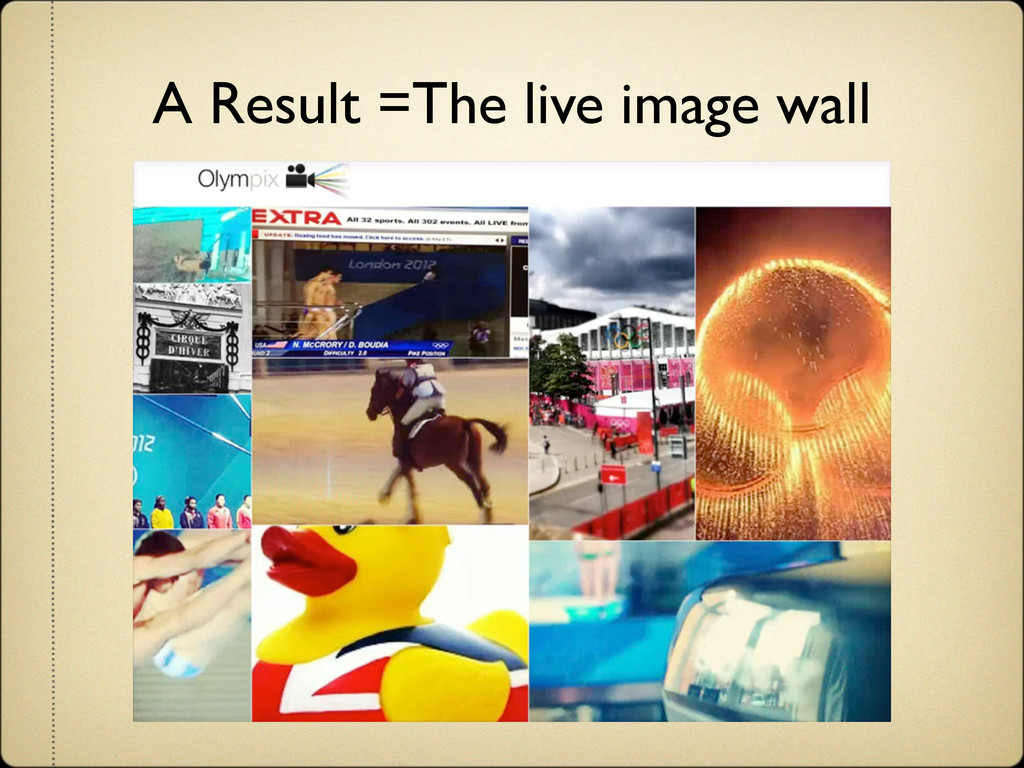 A Result =The live image wall
