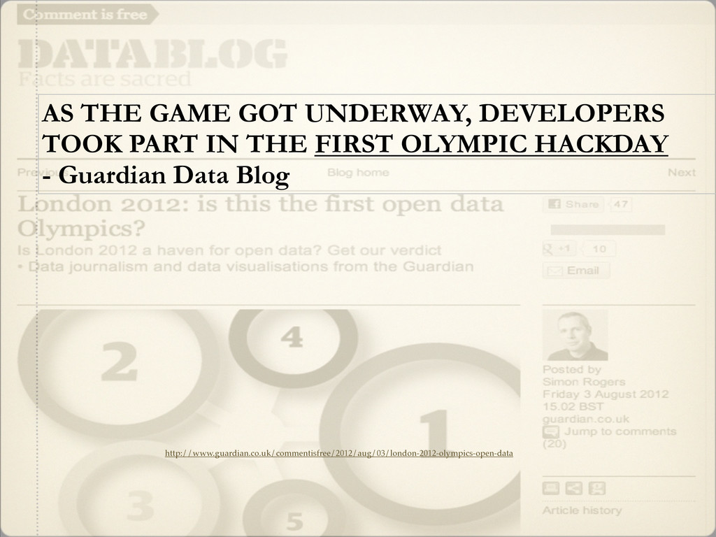 AS THE GAME GOT UNDERWAY, DEVELOPERS TOOK PART ...