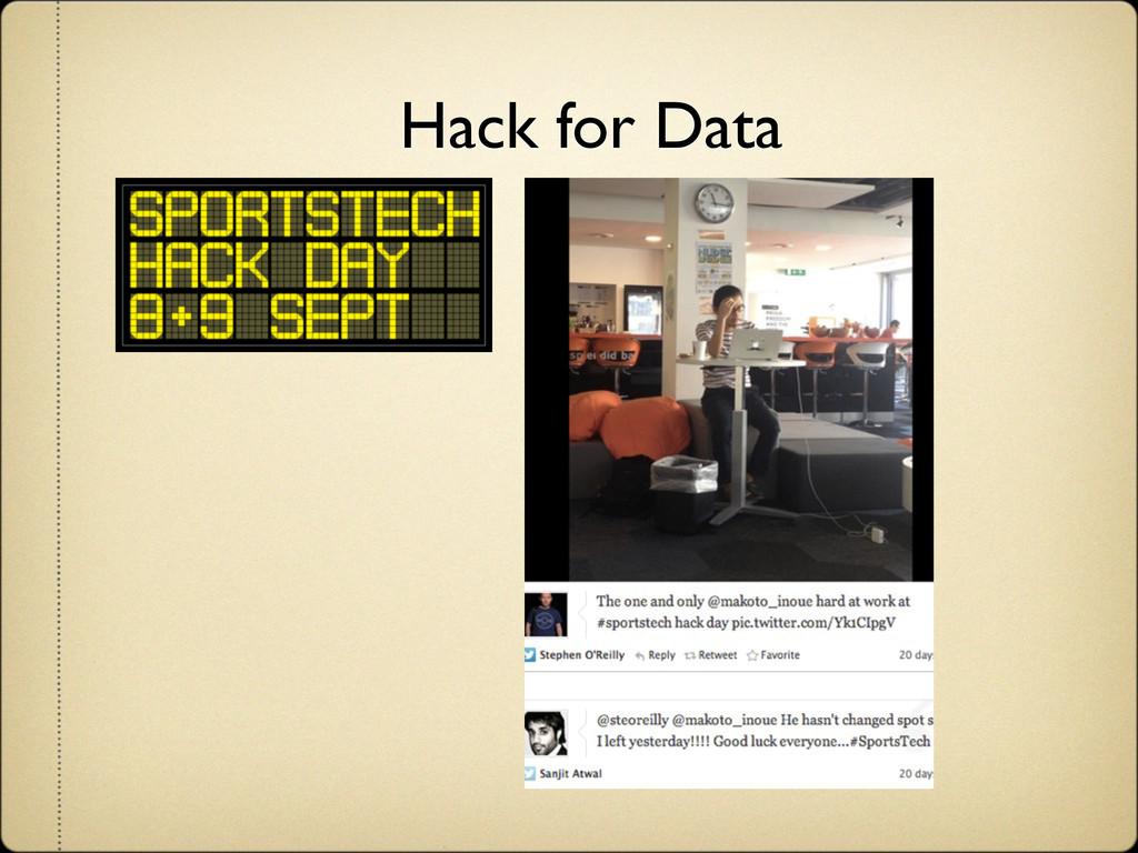 Hack for Data
