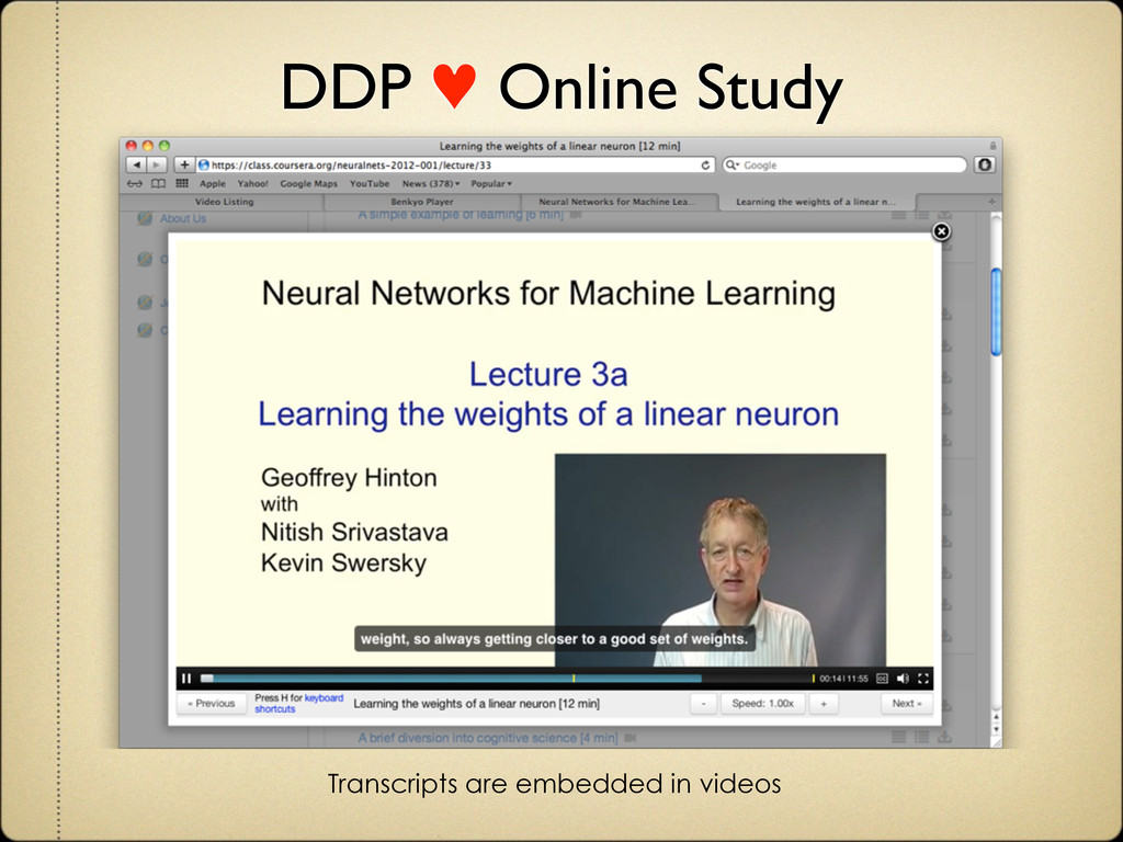 DDP ♥ Online Study Transcripts are embedded in ...