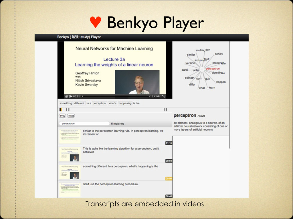 Transcripts are embedded in videos ♥ Benkyo Pla...