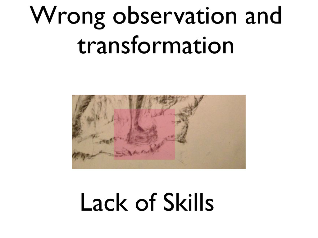 Wrong observation and transformation Lack of Sk...