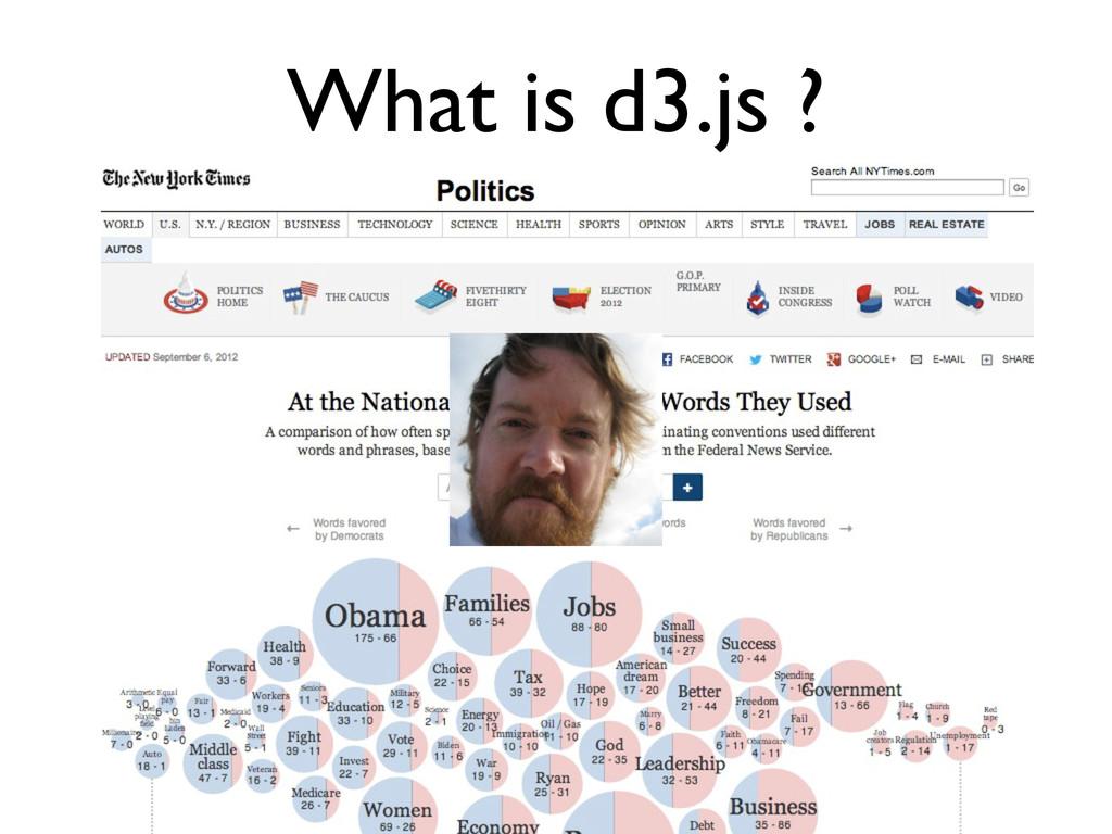 What is d3.js ?